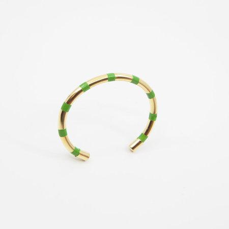 A. Carnevale Striped Cuff in Green