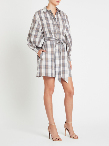 Baum und Pferdgarten Aubree Dress - Cream/Navy/Brown