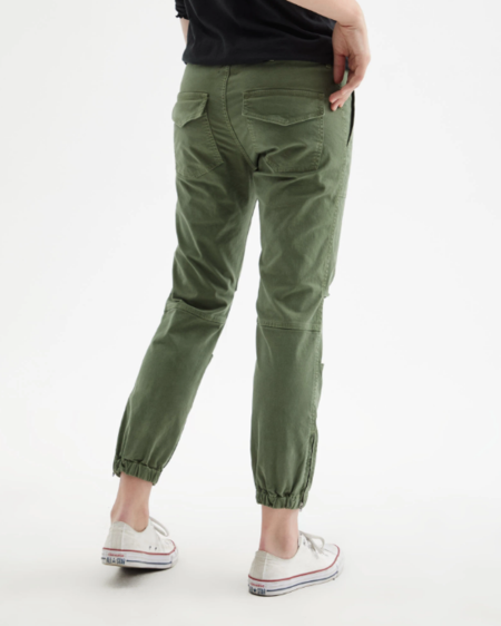 Nili Lotan Cropped Military Pant - Camo Green