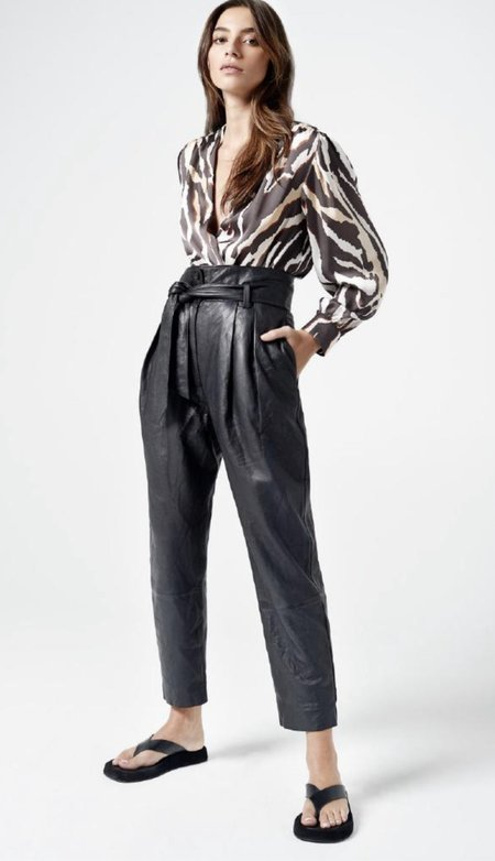 Smythe Pleated Leather Pants
