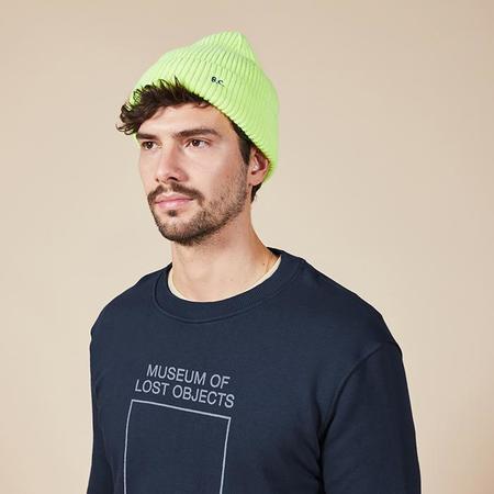 Unisex Bobo Choses Woman Knit Hat - Neon Yellow