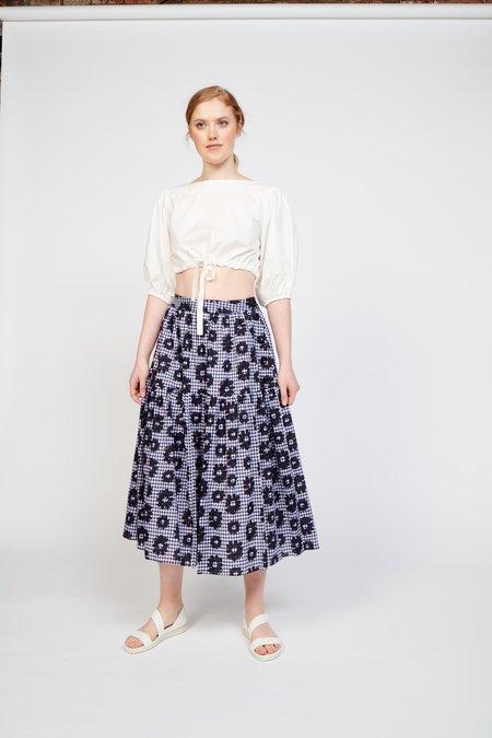WHiT Roni Skirt - Flowers on Gingham