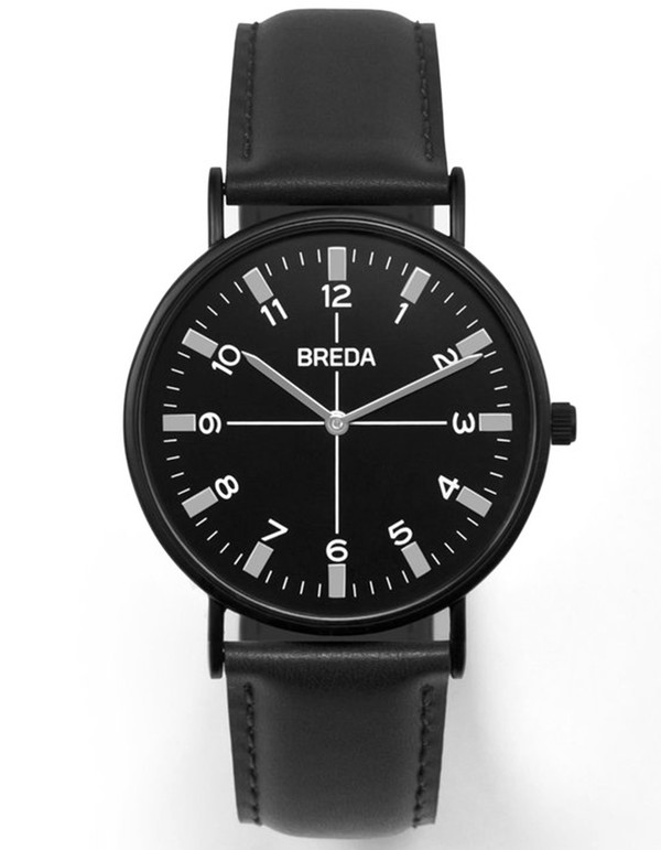 Breda Belmont Watch Black Black
