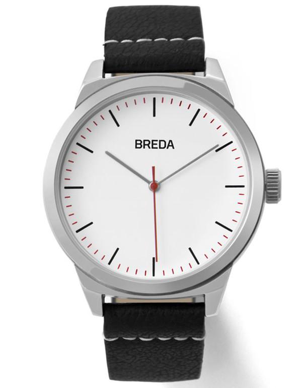 Breda Rand Watch Silver Black