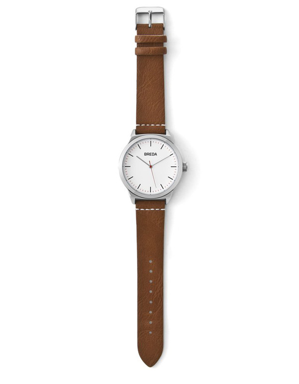 Breda Rand Watch Silver Brown