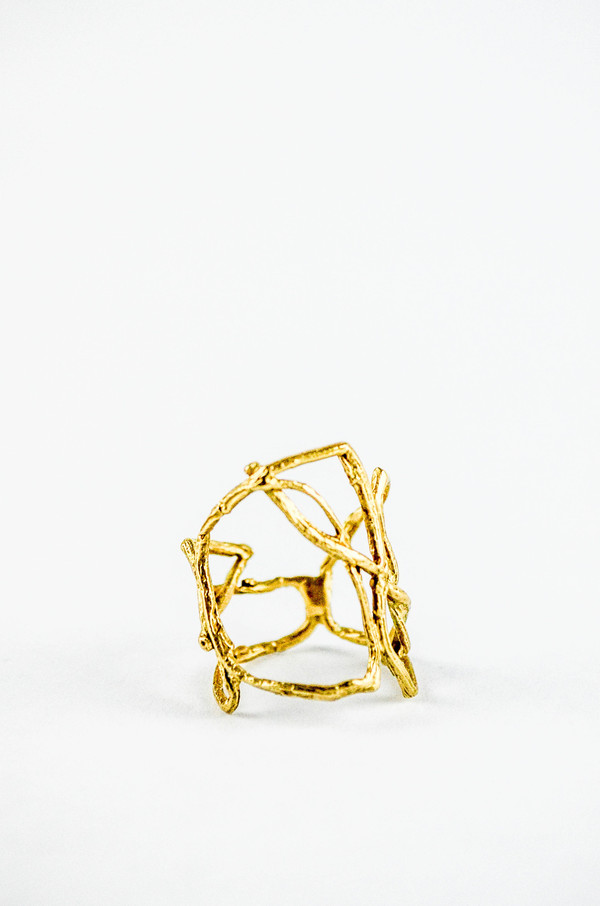 K/ller Willow Cage Ring Brass
