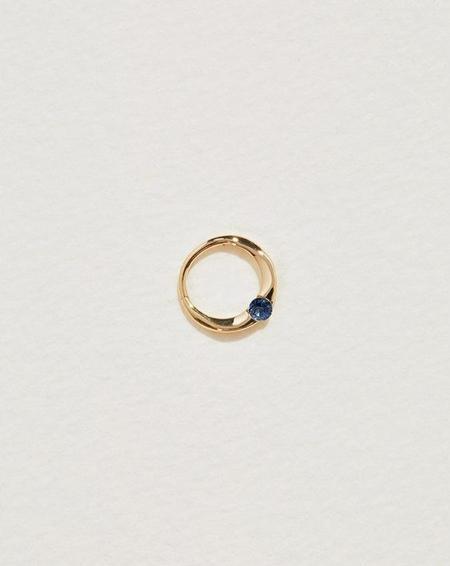 Pamela Love 8mm Floating Sapphire Clicker - Gold