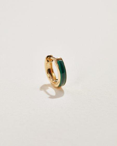 Pamela Love Inlay Huggie earrings - 14k yellow gold