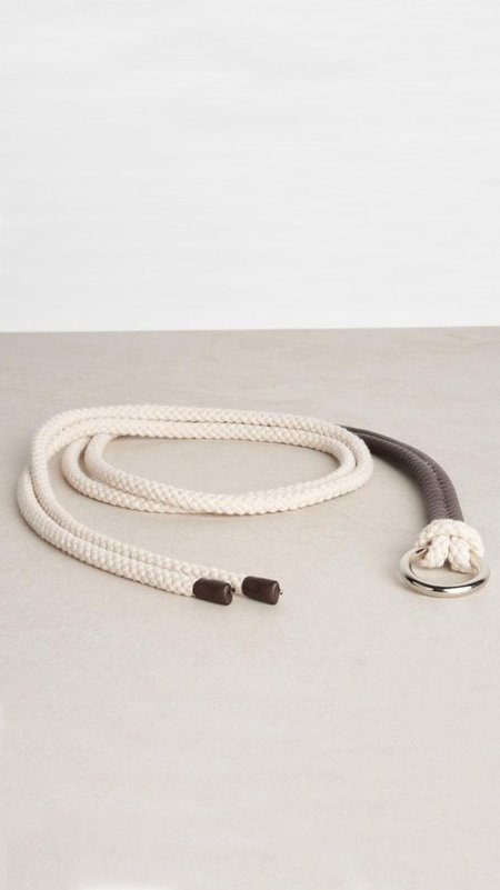 Peserico Leather and Natural Cord Belt