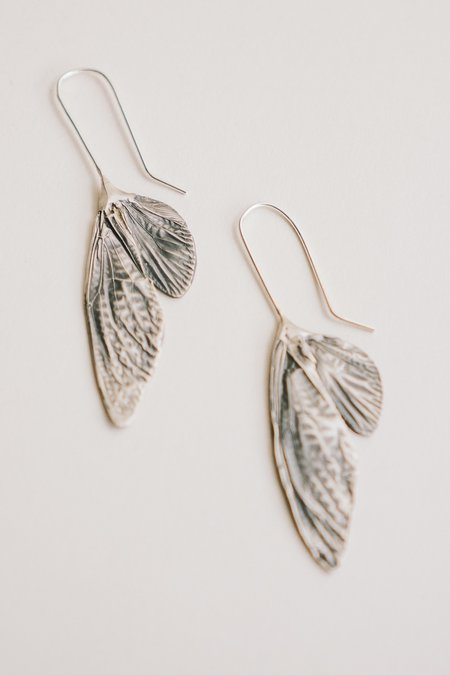 Theeth Cicada Wing Earrings