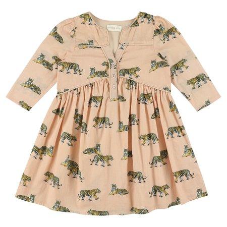 kids simple kids orion tigers print dress - blush