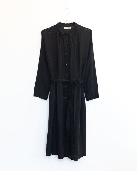 ICHI ANTIQUITES Cotton Linen Dress - Black