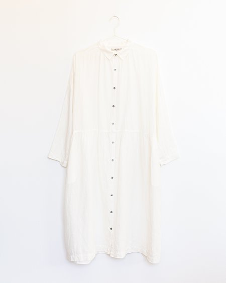 ICHI ANTIQUITES Cotton Linen Dress - White