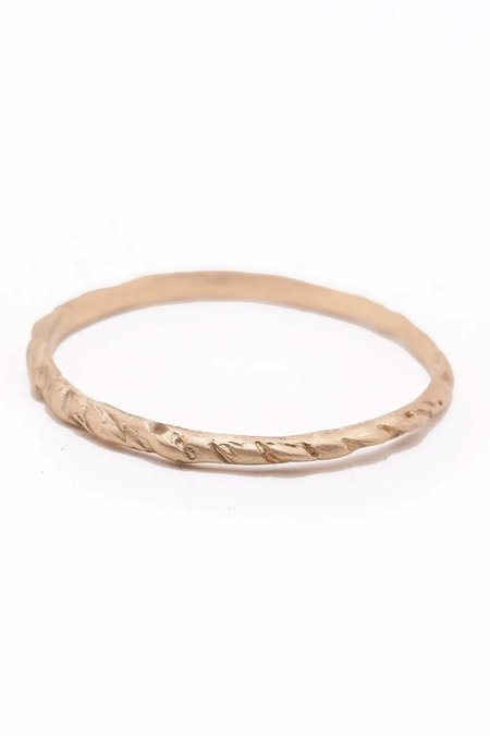 Valley Rose Branch Band Ring - 14K Gold