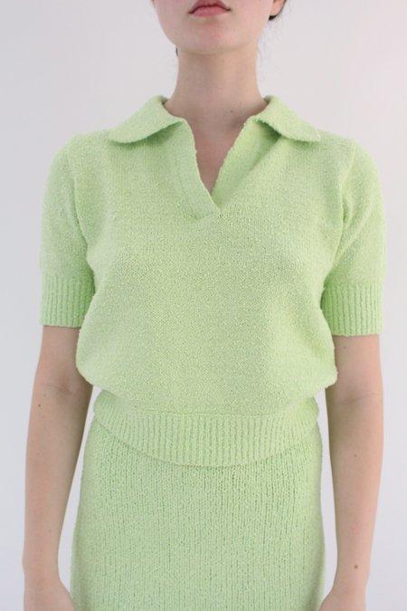 Beklina Bouclé Knit Polo - Mint