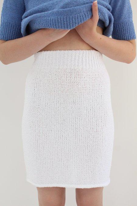 Beklina Bouclé Knit Skirt - White