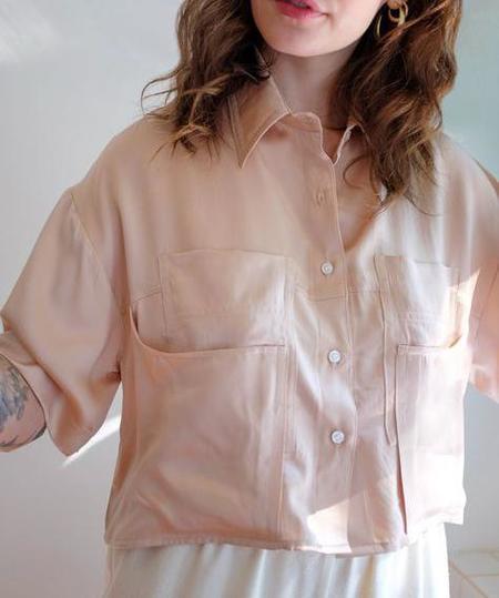 Megan Huntz SANNI BLOUSE - ROSE