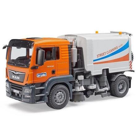 kids Bruder Toys Man TGS Street Sweeper Truck