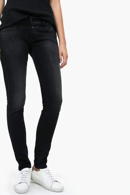 Closed Pedal Star Jean - Black Faded Wash