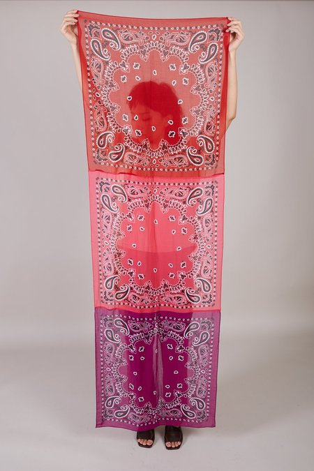 Destin Bandana scarf - Pink/Purple/Red