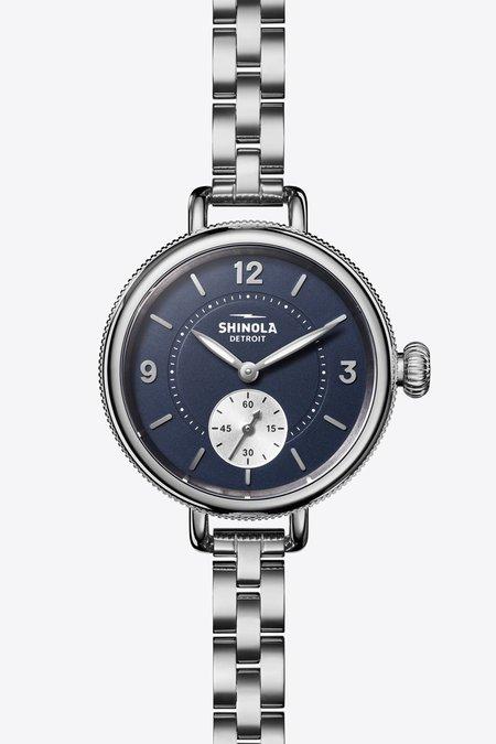 Shinola Birdy Sub Second Watch - Midnight Blue/Silver