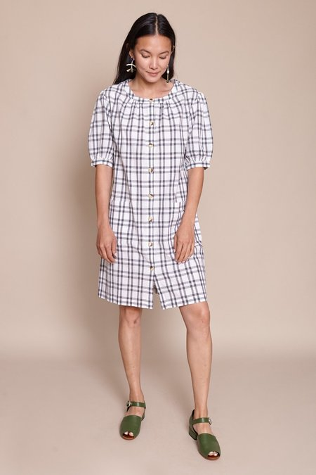 Steven Alan Puff Sleeve Shirt Dress - Grey