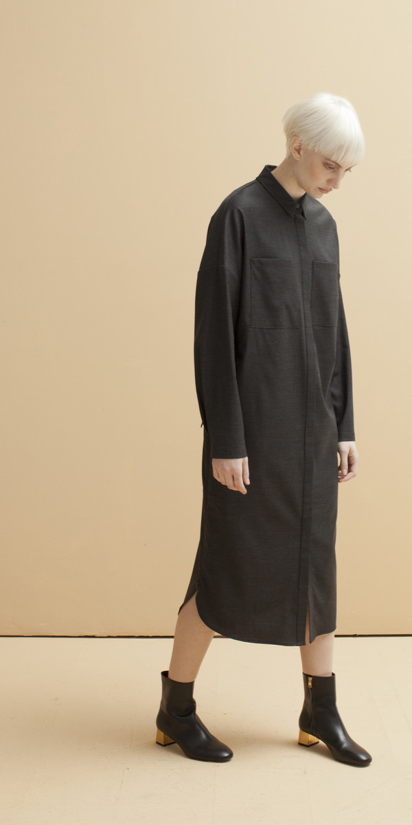 SCHAI Tower Shirt Dress