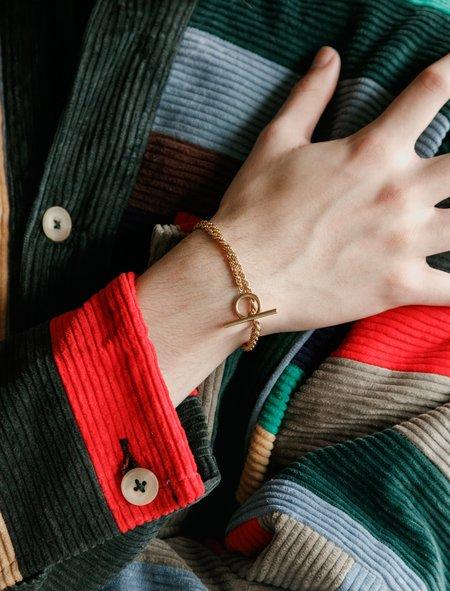 All Blues Rope Bracelet - Gold