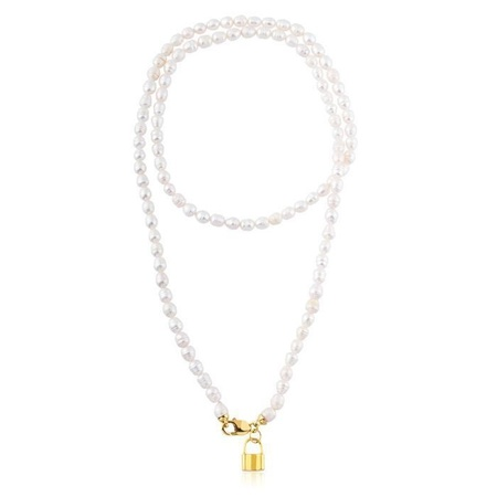 Maisonirem Double Pearl Necklace - Gold/White