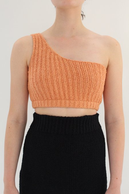 Beklina Bouclé Knit Uno Top - Apricot