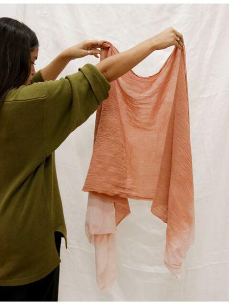 ROSEMARINE TEXTILES Cotton Gauze Scarf - Rust