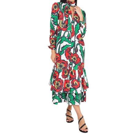 La Double J Good Witch Dress - Big Bloom Bianco