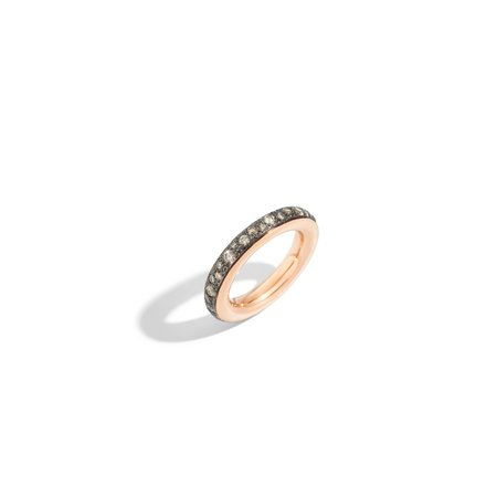 Pomellato Iconica Small Champagne Diamond Ring - 18k Rose Gold