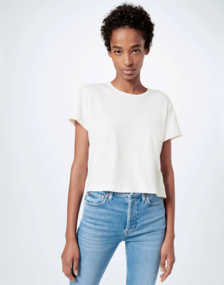 re/done heritage cotton 1950s boxy tee - vintage white