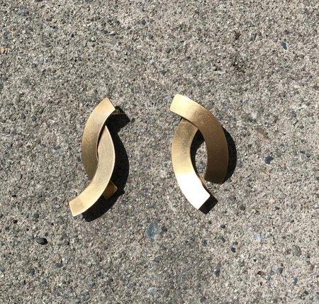 Fay Andrada Naru SM Earrings - Brass
