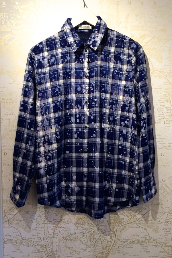 Roseanna Paint Drip 'Harry' Plaid Shirt