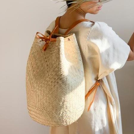 Hecho and Co Natural Palm Backpack