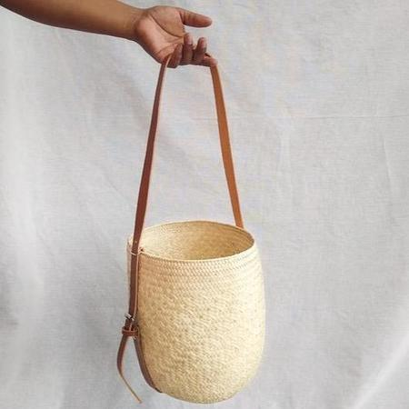 Hecho and Co Natural Sling Palm Bag - Beige