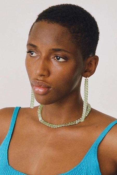 PALOMA WOOL Letonia Crystal Earrings - Lime Green