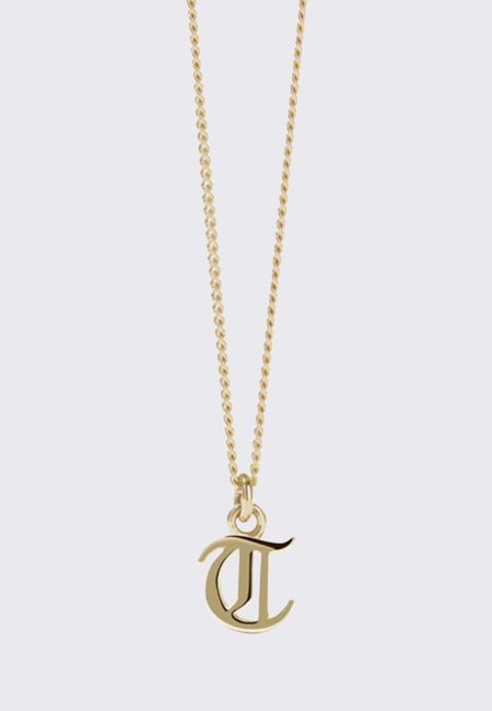 Meadowlark Mini Letter Necklace - gold