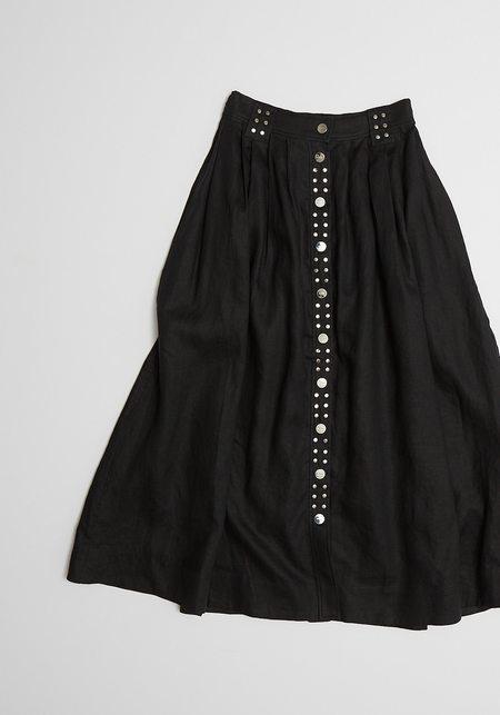 Ganni Light Linen Skirt - Phantom