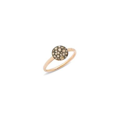 Pomellato Small Sabbia Ring with Champagne Diamonds