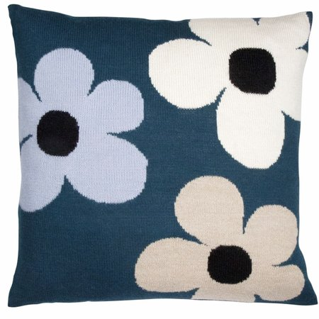 Kids luckyboysunday flower pillow case - green