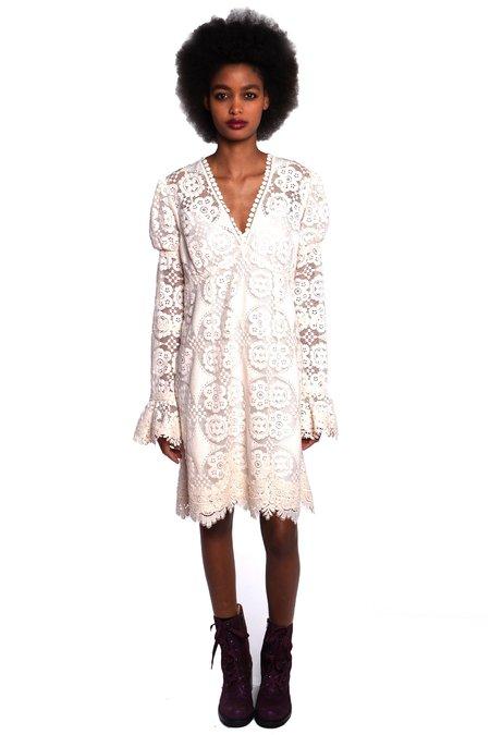 Anna Sui Floral Lace Dress - Ivory