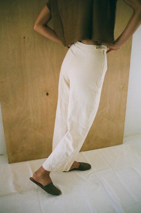 Han Starnes Denim Pants - Cream