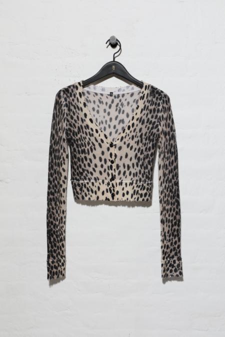 R13 Baby Cardigan - Cheetah Print