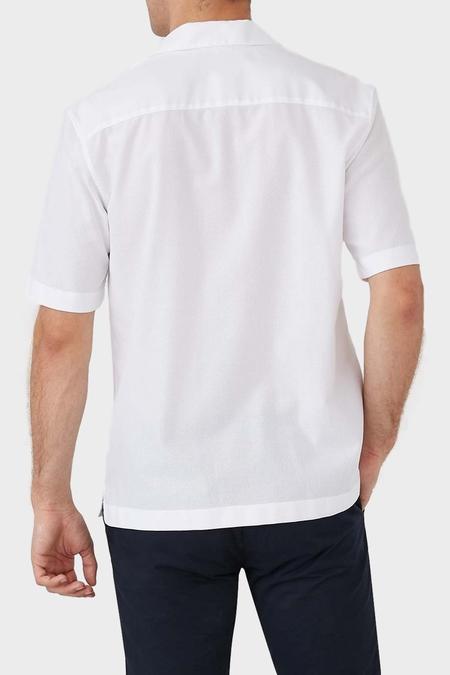 Sunspel Short Sleeve Mesh Collar Shirt