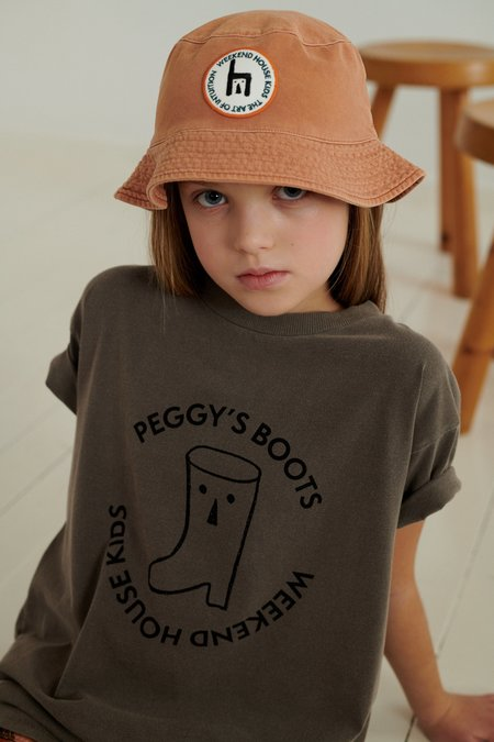 Weekend House Kids Peggy T Shirt - Washed Chocolate