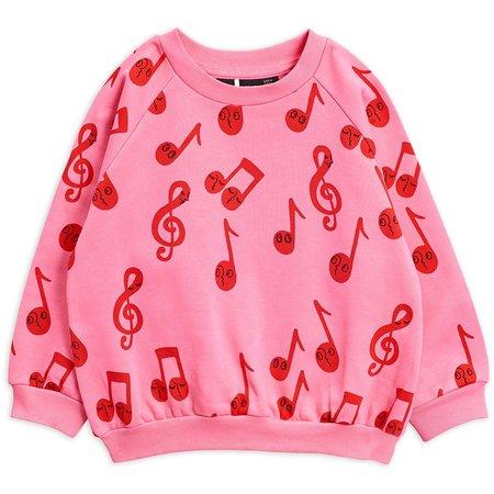 kids mini rodini notes sweatshirt - pink