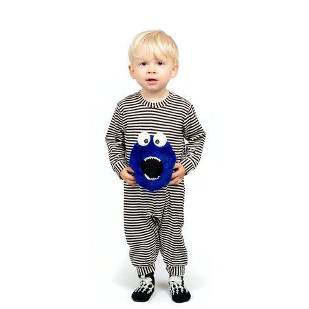 Kids Wauw Capow By Bang Bang Copenhagen Little Monster Romper - Black/White Stripe